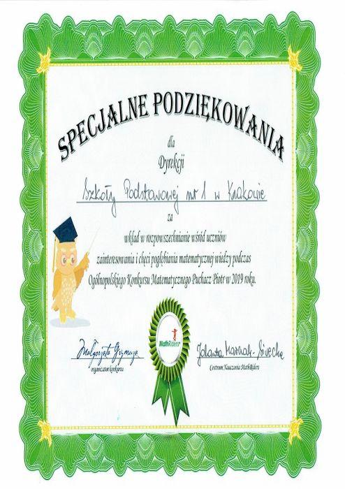 Szkoła Podstawowa Nr 1 W Krakowie
